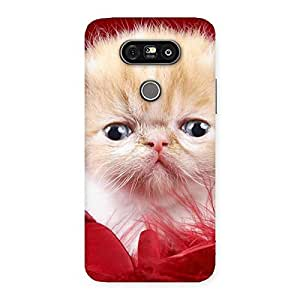 Impressive Kitty In Red Fur Back Case Cover for LG G5