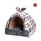 332PageAnn Katzenhöhle Hundehütte Katzenbett Hundekissen, Filz Kuschelhöhle Für Hunde Katzen Kleintiere, Blumenmuster Schlafsack Waschbar