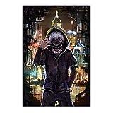 RUIYAN Quadro su Tela Immagine di Arte della Parete Tokyo Ghoul Manga Serie Anime Poster Stampa Quadro su Tela Senza Cornice 40 * 60 Cm