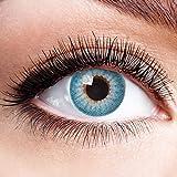 Farbige Kontaktlinsen Blau Ohne Stärke Weiche Natürliche Jahreslinsen Blaue Linsen Farblinsen 0 Dioptrien Natürlich Himmelblau 1 jahr Aqua Hellblau
