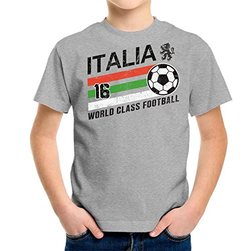 Cloud City 7 Euro 2016 Football Italy Italia Ball Grey Kid\'s T-Shirt