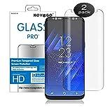 Novago Compatible avec Samsung Galaxy S8 - Pack de 2 Films en Verre trempé incurvé 3D Couvre la Quasi totalité de l'écran (Modèle Compatible avec Toutes Les Coques Housses) (x2)