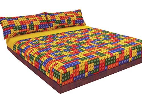 Juego de sábanas estampado LEGO (para cama de 150x190/200)