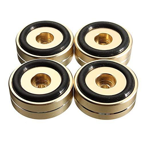 DAxixi Heimwerker-Werkzeug-Set für Heimwerker, goldene Füße, 4 Stück, 40 x 15 mm Isolation Lautsprecherständer, Plattenspieler, goldene Füße