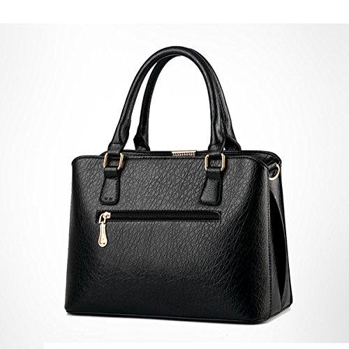 Damenhandtaschen Aus Leder Damen Wasserdichte Umhängetasche Tragetaschen Black