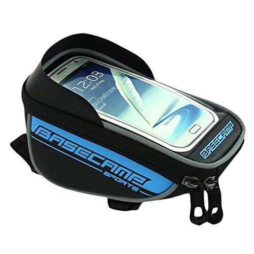 Radfahren Taschen Paar HEAD Tube Rahmen Tasche Halter Lenkertasche für für 14cm Handy Blau