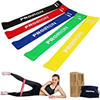 PROIRON Resistance Loop Bands - Mini Band Set of 5 Exercise Bands for Improving Mobility and Strength, Yoga, Pilates or for Injury Rehabilitation