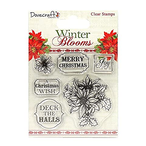 Dovecraft Christmas Winter Blooms Collection - Poinsettias