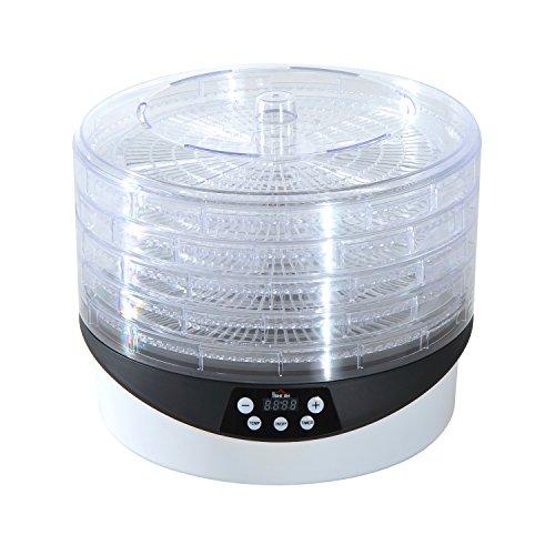 Homcom® Dehydrator Dörrgerät Dörrautomat Dörrer Trockner Trockenschrank Dörrapparat (Modell2)