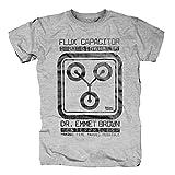 TSP Zurück in die Zukunft - Flux Capacitor E Brown T-Shirt Herren S Grau meliert