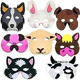 German Trendseller 8 x Tiermasken ┃ Bauernhof-Tiere ┃ Schaumstoff Masken┃ für Kinder ┃ Ideal zum Kindergeburtstag und Karneval