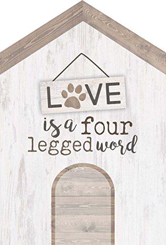 P. Graham Dunn Love ist Ein vierbeinigen Wort weißwaschung House 14x 20,3cm Kiefer Holz Block Tischplatte Schild (Dekor Verkauf Hochzeit Zum)