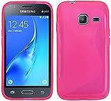 ENERGMiX S-Line TPU SchutzHülle für Samsung Galaxy J1 Mini 2016 (J105H) Silikon Hülle Etui Case Cover Silikontasche Silikonschale in Pink