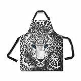 InterestPrint Verstellbare Lätzchen Schürze für Damen, Herren, Mädchen, Chefkoch mit Taschen, Küchenschürze zum Kochen, Backen, Gartenarbeit, Haustier Fellpflege