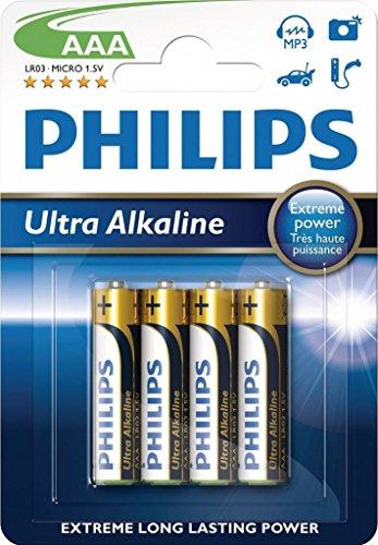 Preisvergleich Produktbild Philips Batería LR03E4B - Pilas (Alcalino. 1.5V. 1.05 cm. 4.55 cm. 12g. AAA)