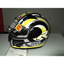 casco Integral Moto agv GP-1 R Multi Color Amarillo/Negro/Plata TG