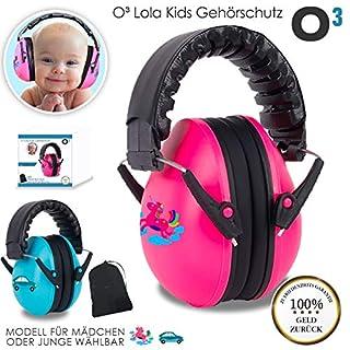 O³ Lola Kids Gehörschutz für Babys von 0-3 Jahren // Mit extra weichem Kopfbügel (Mädchen)