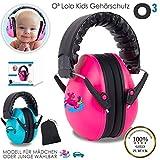 O³ Lola Kids Gehörschutz Baby // für Babys von 0-3 Jahren // Mit extra weichem Kopfbügel (Mädchen)