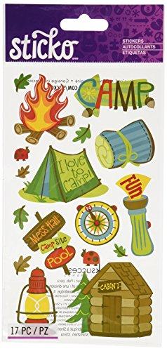 Sticko 450151 Stickers, Camping Fun
