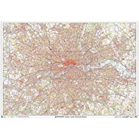 "Greater London Postcode Postcode Sector Wall Map (C7) - 47"" x 33.25"" Laminated"
