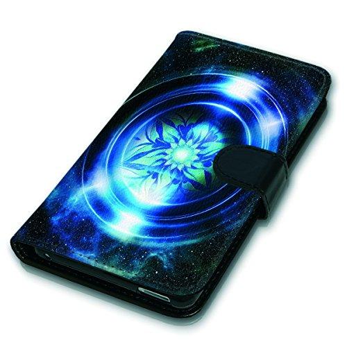 Wallet Book Style Flip Handy Tasche Case Schutz Hülle Schale Motiv Etui für Apple iPhone 6 / 6S - Variante UMV5 Design12 Design 9