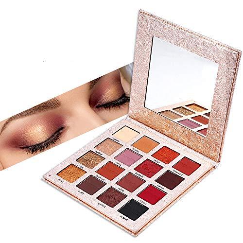 JWR 16 Farben Lidschatten-Palette Makeup Lidschatten Mattschimmer Glitter Pigmented Smoky Balm...