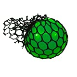 #5: Charlies Toy Factory Squish Ball Stress relief Mesh Squishy Ball Squish balls For stress Relief Hand Movement Gag Toy(Green)