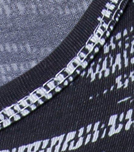 CHENGYANG Herren Sommer Casual Drucken Tees Kurzarm Slim Fit Vintage Style T-shirts 9