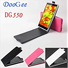 Prevoa ® 丨Original de la PU del tirón del cuero funda protectora caja del filtro de la cubierta para Doogee dg550 --- Color Blanco