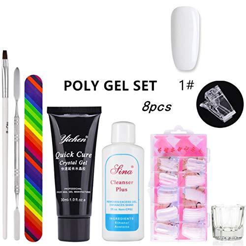 Femmes professionnelles Nail Extend Builder Gel Brush Nail Tool Faux Conseils Épaisse Gel Gel Gel Liquide Poly Nail Gel Set