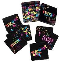 Coaster Set - Tetris - 10 pc with Tin Storage Box New Licensed 77085