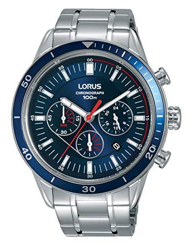 Lorus Hommes Chronographe Quartz Montre avec Bracelet en Acier Inoxydable RT303HX9
