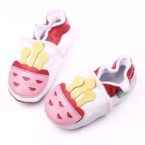 xhorizon TM FM8 Leder Unisex Baby Weich Kleinkinder Schuhe Geschenk (Stern/9-12M/12.5cm) Erdbeere