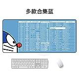 Alfombrilla de ratón Extra Grande Alfombrilla Impermeable colección Variedad Azul 300 * 800 * 5 mm