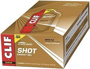 Clif Bar Organic Mocha Clif Shot Energy Gel 35 ml (Pack of 24)