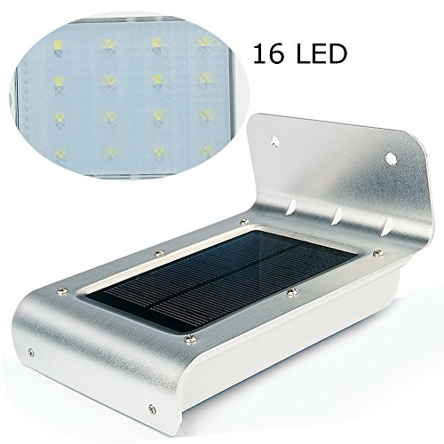 Uniquefire 16 LED Luce Solare Energia, con