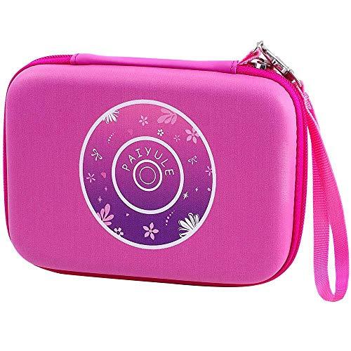 PAIYULE Tasche kompatibel für VTech Kidizoom Duo Selfie / Twist Connect / Rotations- und Lächeln- / Pix-Kamera mit Riemen - Pink (nur Tasche)