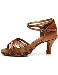 Hroyl Ss7-f59 Femme Chaussures De Danse Latine Rose Sat¨ªn 38,5