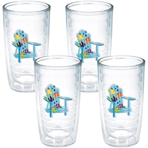 TERVIS Tumbler, 16-Ounce, Tropical Fish Adirondack Chairs, by Tervis