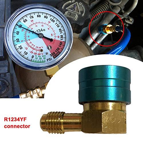 Forwei R1234YF Klimaanlage Kälteanschluss Adapter Auto AC Anschluss Schlauch Set Kit QC1234L -