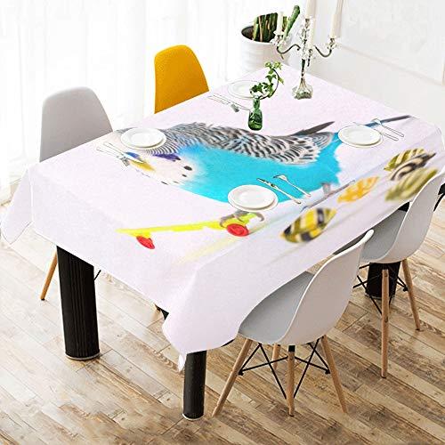 Enhusk Tischdecke Papagei Spiel Skateboard Baumwolle Druck Tischwäsche Tuch Abdeckung Tischdecke Für Küche Esszimmer Dekor 60x84 Zoll Jungen Tischdecke