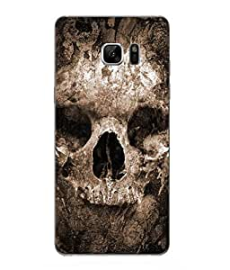 Case Cover Skull Printed Brown Hard Back Cover For Samsung Galaxy Note 7