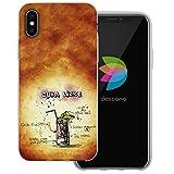 dessana Cocktail Rezepte Transparente Silikon TPU Schutzhülle 0,7mm Dünne Handy Tasche Soft Case für Apple iPhone X Cuba Libre