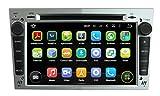 (Silber) 7 Zoll Doppel Din Android 5.1.1 Lollipop OS Autoradio für Opel Astra 2004 2005 2006 2007 2008 2009, kapazitiver Touchscreen mit Quad Core 1.6G Cortex A9 CPU 16G Flash und 1G DDR3 RAM GPS Navi Radio DVD Player 3G/WIFI Aux Input OBD2 USB DVR