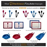 BACKHAUS FlexBake® Silikon Kastenform – Brotbackform & Teigschaber – Premium BackSet in Platin Silikon (23cm-Rot) - 7