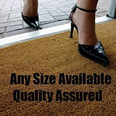 Coir Matting 17mm Natural VARIOUS SIZES HERE - low-cost UK light shop.