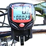 Aeoss A256 Waterproof Digital LCD Bicycle Computer Odometer Speed meter Bike 14 Functions