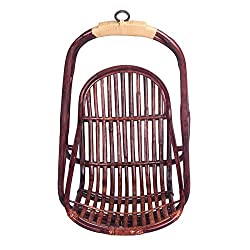 A & E Comfortable Brown Cane baby Swing swings 2 to 12 years kids indoor outdoor