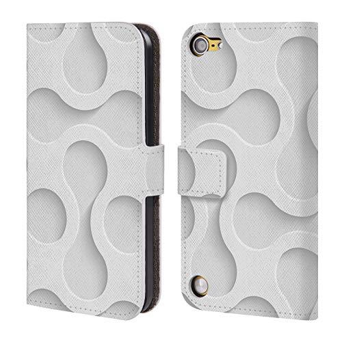 Head Case Designs Offizielle Mark Ashkenazi Weiss Muster 3 Leder Brieftaschen Huelle kompatibel mit Touch 5th Gen/Touch 6th Gen