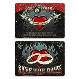 30 x Hochzeit Save the Date Karten Hochzeitskarten mit Ihrem Text - Rockabilly
